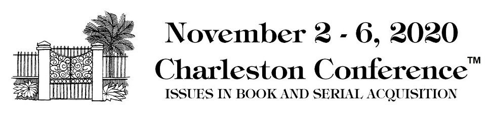 Join us at the Charleston Conference as it goes virtual this November!