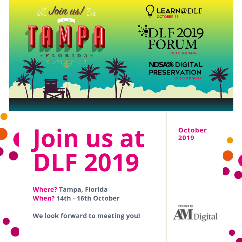 Join us at DLF 2019!